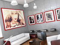 Фотографии как часть декора помещения