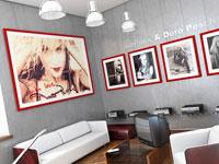 Украшение комнаты семейными фотографиями