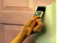 Способы окраски межкомнатных дверей