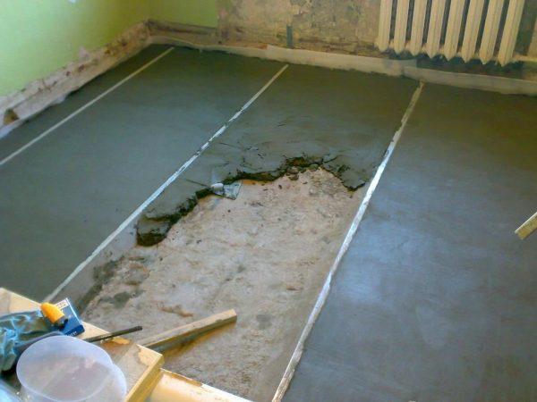 Как самому сделать песчано-цементную стяжку