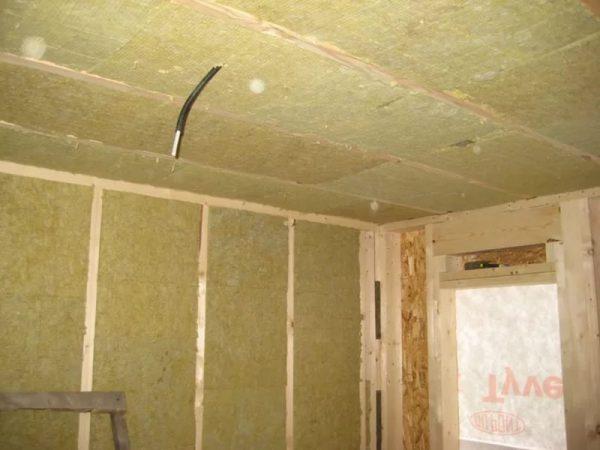 Каркасный дом - теплоизоляция