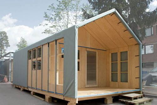 Уникальная конструкция временного дома