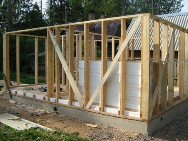 Каркасная технология строительства бани