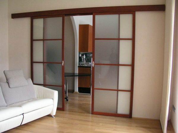 Особенности зонирования пространства подвесными раздвижными дверями