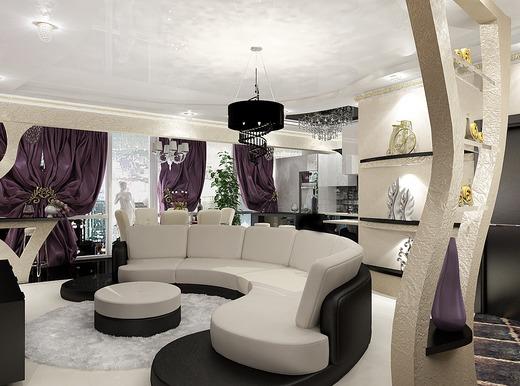 Дизайн квартире в стиле арт-деко