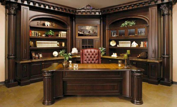 Преимущества мебели из массива для кабинета