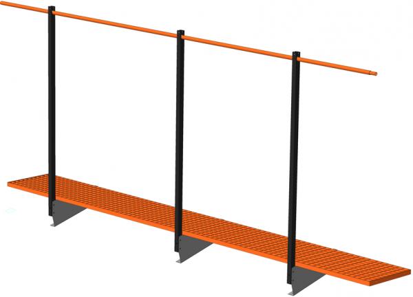 Оборудование для крыши: ограждение, переходные трапы, лестницы
