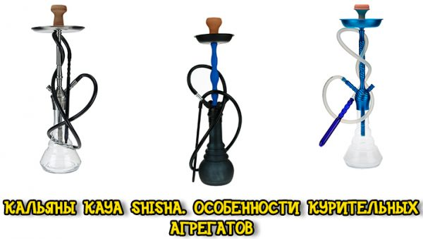 Кальяны KAYA Shisha. Особенности курительных агрегатов