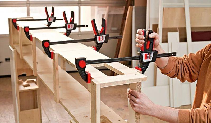 Cтроительный ручной инструмент: струбцины