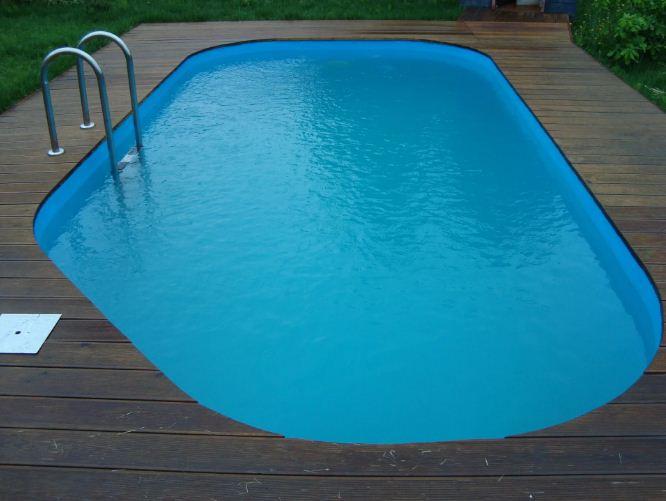 Кок-полиэстеровая чаша для бассейна