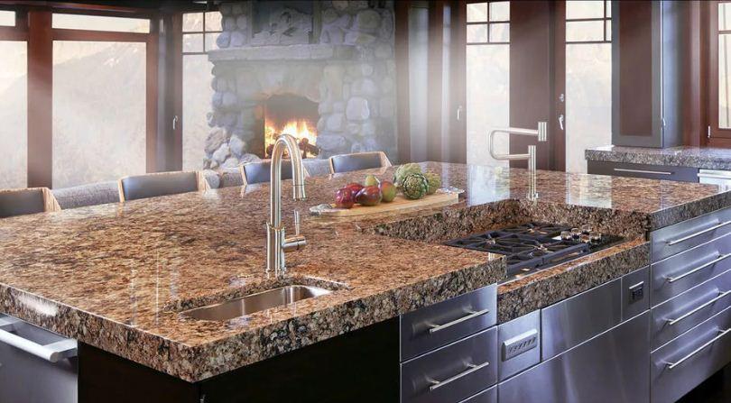 Материалы для кухонных столешниц, их различные свойства и цены